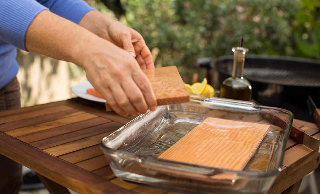 How to fish fillets on the grill or cedar plank for Grilling fish on cedar plank