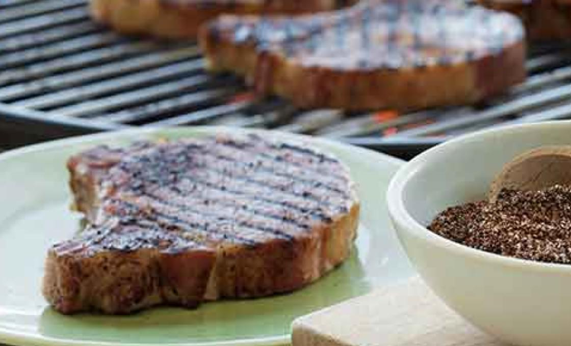 Pork Chops with Coffee Dry Rub