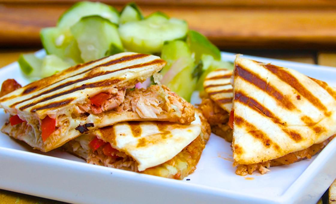 Buffalo Chicken Mini Quesadillas