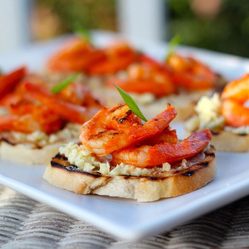 Buffalo-Shrimp-Crostini