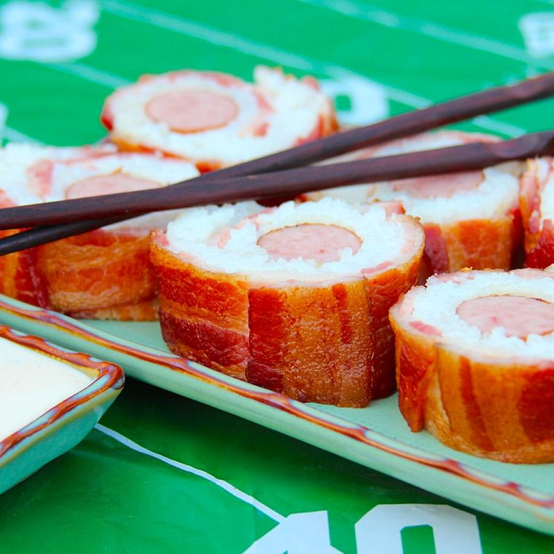 grilled-bacon-and-brat-sushi