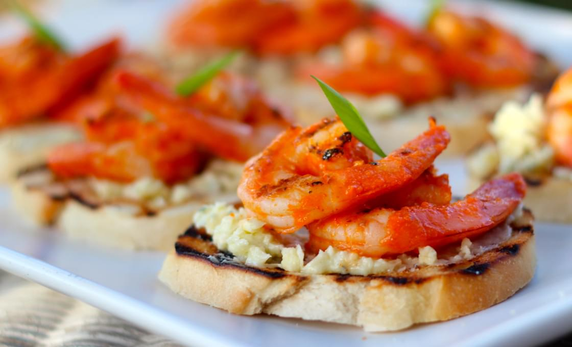 Buffalo Shrimp Crostini