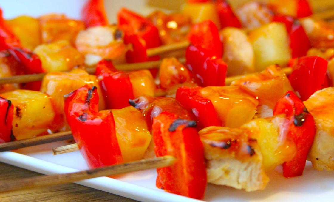 Sweet and Sour Chicken Kebabs