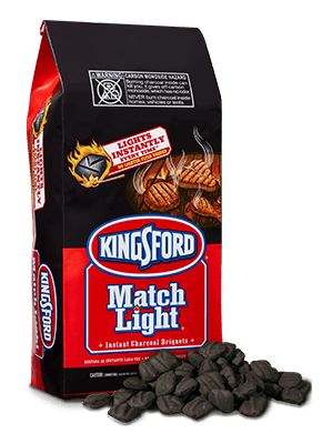 Kingsford® Match Light® Instant Charcoal Briquets ignite without the need to add lighter fluid. These briquets have Sure Fire Groove® technology, which helps you get grilling faster while not hindering the longevity of the burn. These briquets are perfect for backyard parties and sporting event tailgates.